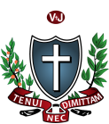 Tenui Nec Dimittam slogan under Shield