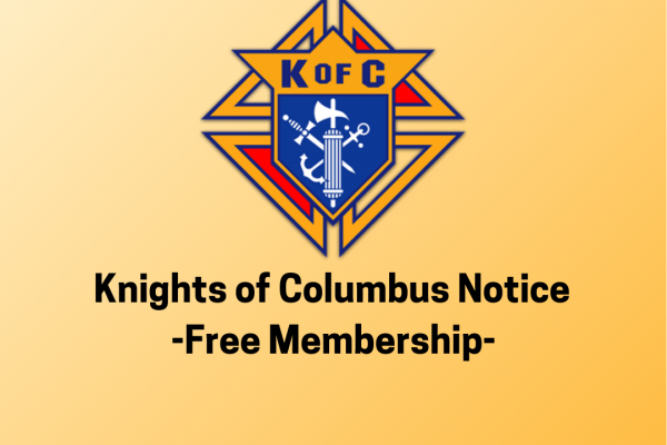 Knights of Columbus Free Membership