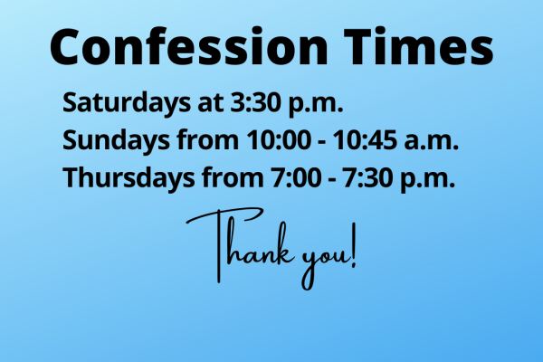 Updated Confession Times